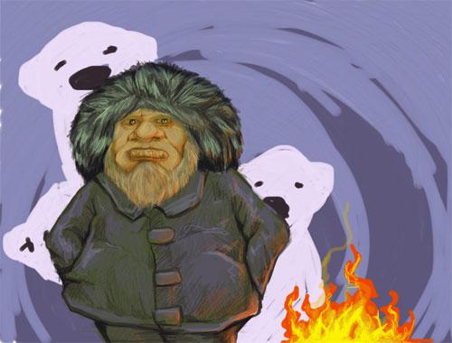 Eskimo Digital Illustration